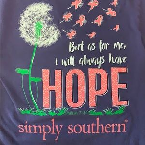 Simply Southern breast cancer awareness l/s tee